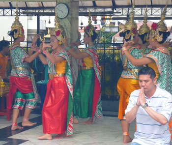 Dancers at Erawan Shrine
