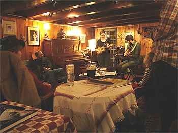 DreamAway Lodge in Becket offers music in a laid-back atmosphere. photo by Joanna Eng.