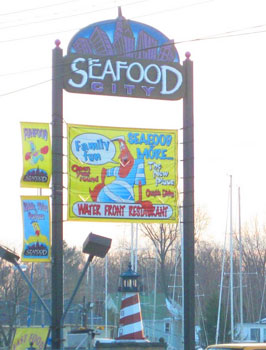 Seafood City is right on the harbor