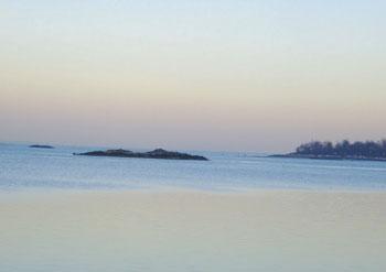 The beach on City Island