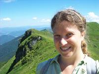 Melinda Brasher in the Mala Fatra, Slovakia