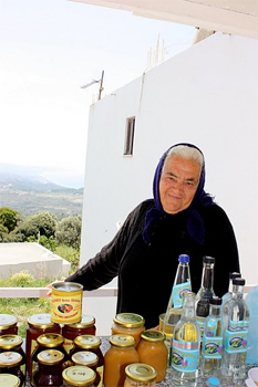 Honey for sale in Siana, Rhodes.