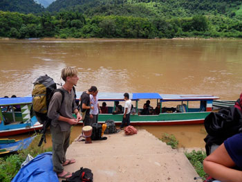 Arriving at Muang Ngoi on the Nam Ou River in Laos