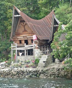 Traditional Batak Homes on Lake Toba