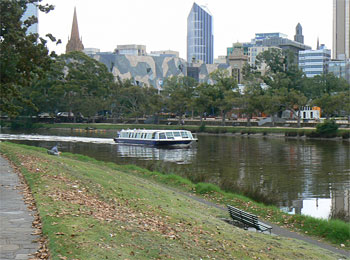 A boat cruise down the Yarra River. It's a great spot for biking and walking too.