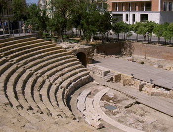 The Roman amphitheater in Malaga