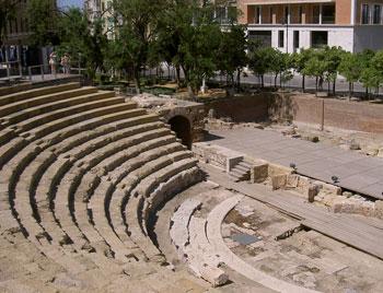 The Roman amphitheater in Malaga