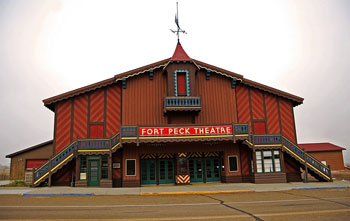 Designed and constructed by the United States Army Corps of Engineers, Fort Peck Summer Theatre is referred to as 'A Jewel of the Plains'.