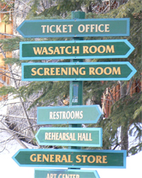 Sign at Sundance Resort in Utah.