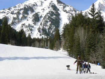 Skiing at Sundance, in Utah. photos by Max Hartshorne.