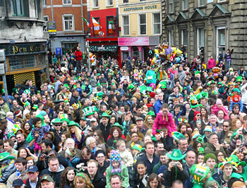 More than five hundred thousand people turned out for the parade.