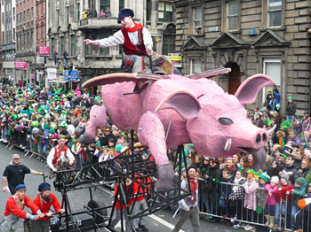 Flying pigs even!
