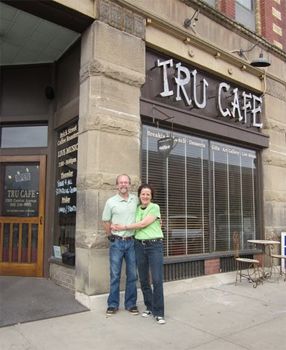 The owners of the Tru Cafe, Mark and Roberta Loescher.