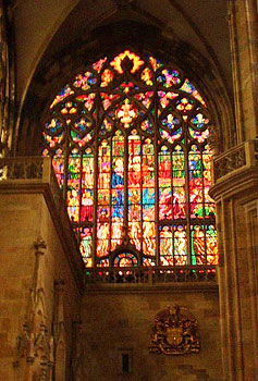 St. Vitus Cathedrals stained glass windows