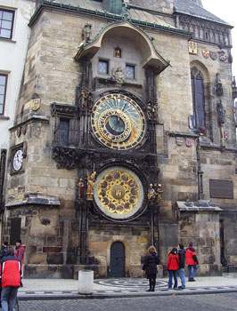 The Town Hall Tower Astronomic?al Clock in Prague. Photos by Maureen Bruschi.