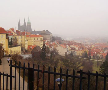View of Prague Castle from the Strahov Monastery