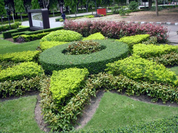 Topiary at the Princess Maha Chakri Sirindhon Herbal Garden.