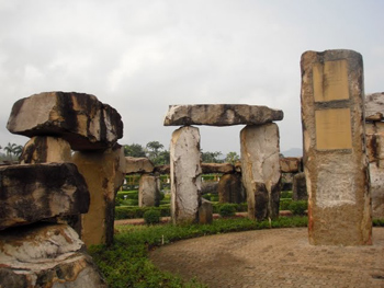 A replica of Stonehenge at Nooch Nooch Tropical Garden, near Pattaya, Thailand. photos by Gary Singh.