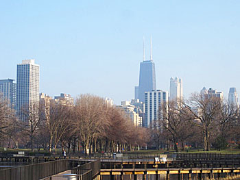 The Chicago skyline seen from Lincoln Park. Photos by Will McGough.