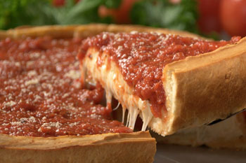 The deep dish pizza at Giordano's