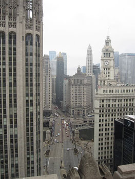 View from my room at the Interconti?nental Chicago