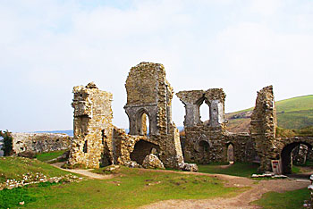 Corfe Castle in Dorset, England, where Enid Blyton was inspired to call it Kirrin Castle in her Famous Five books. Rachel Rowe photos.