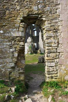 A doorway at Corfe Castle