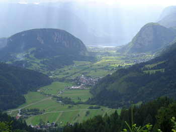View from the hill in Slovenia.