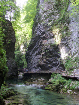Vintgar Gorge, Slovenia. photo by Bruce Northam.