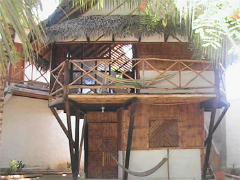 Cabanas like this rent for about $8 a night in Canoa.
