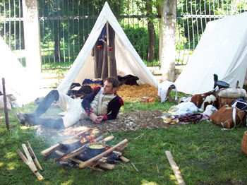 Camping out old-style, Napoleonic reenactmen?t