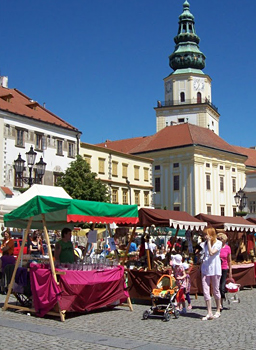 Main Square, Kromeriz, during a festival