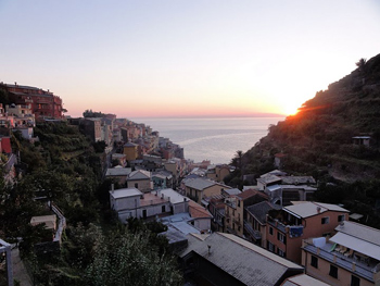 The sunsets in Manarola are awesome.