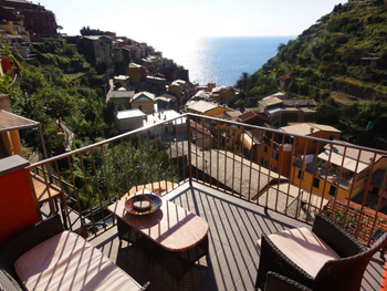 The view from our private veranda in Manarola