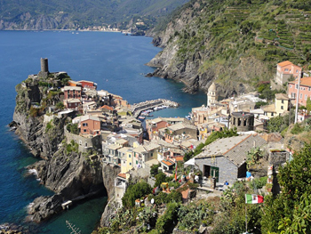 Arriving in Vernazza on foot. Do they have cold beer?