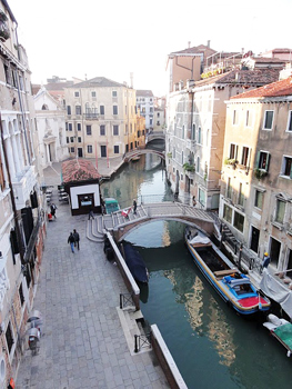 The view from our hotel room in Venice