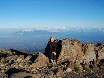 Haleakala Volcano is 10,023 foot high. Photo by Maria Schneider.