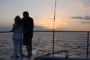 Get the royal treatment on Alii Nui's romantic sunset cruise.
