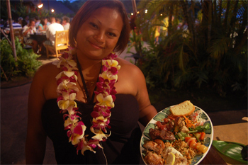 At Old Lahaina Luau you can taste some of the traditional Hawaiian dishes.