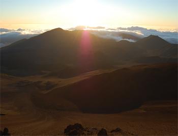 The sunrise over Haleakala crater on Maui is breathtaking.
