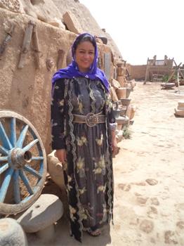 Kurdish dress near the Beehive houses.