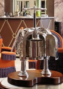 The lobster press at the Regent Hotel, Bordeaux, France.