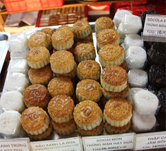 Moon cakes and other goodies.