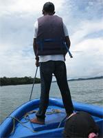The captain had incredible balance. photo by Sally Kay