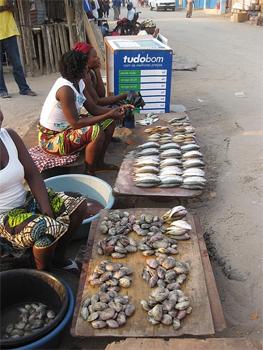 Market women in Mozambique.