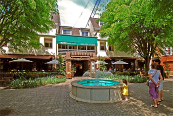 Mediterra Restaurant, a popular dining spot in downtown Princeton, NJ.