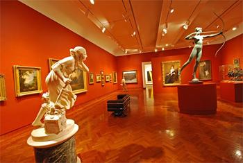 Inside the University Art Museum at Princeton.