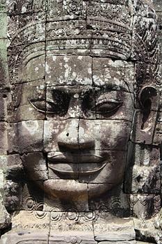 One of the many faces of the Avalokiteshvara. Photos by Kathleen Broadhurst.