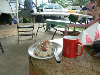 Breakfast at Uncle Bill's in Hana.