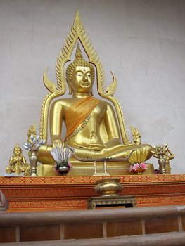 A typical Buddhist altar